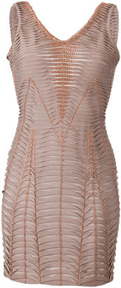 Herve Leger Natural Bandage Dress - Bodacious Bandage Dresses