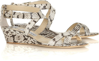 6256b3d9279 The Look for Less  Jimmy Choo Snake Wedge Sandal - The Budget Babe ...
