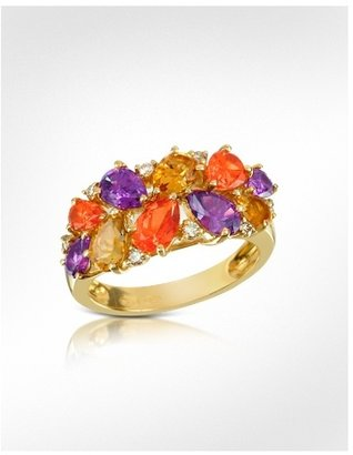 Forzieri Medici - Gemstone and Diamond 18K Gold Ring - Gemstone Rings