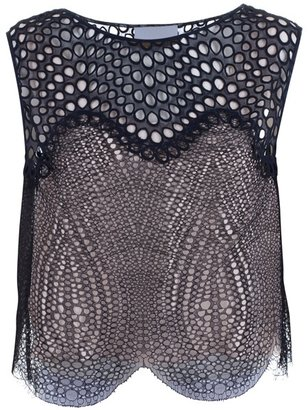 3.1 PHILLIP LIM - Sleeveless silk lace top - Tops