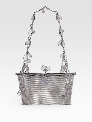 Prada Rete Metal Evening Bag - Prada