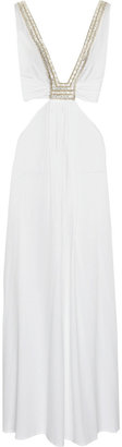 La Perla Ranja embellished satin maxi dress - Maxi Dresses