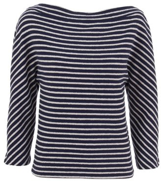 BALENCIAGA - Striped towelling Breton top - Balenciaga