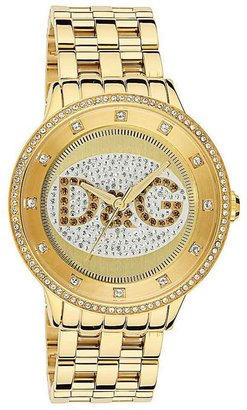 D&amp;g &quot;prime time&quot; oversized gold-dial watch - Incredibly Gold Watches for Men