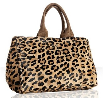 Prada leopard printed pony hair medium tote - Fall is Purring for Leopard Print Accessories