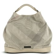 Large Check Perforated Suede Leather Tote Bag - Spring&#39;s Trendy Purses