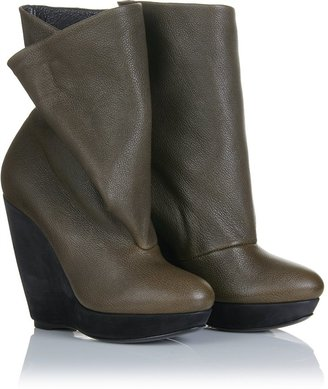 Balenciaga Leather Booties - Dress Like Mary-Kate Olsen