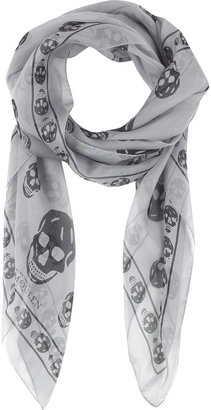 Alexander McQueen Silk skull scarf - Alexander McQueen Scarves