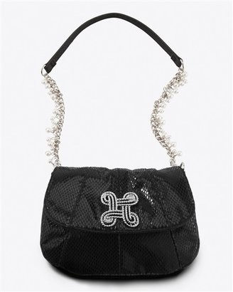 Rhinestone Knot Crossbody Clutch - Handbags