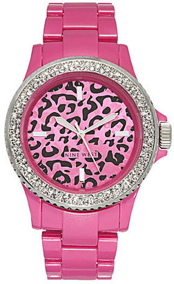 Neon Pink Link Watch - Sports Watches