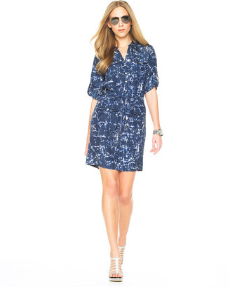 MICHAEL Michael Kors Tie Dye Shirt Dress - Michael Kors Spring 2010