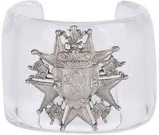 Ben-Amun Clear/Silver Cuff - Clearly Amazing 