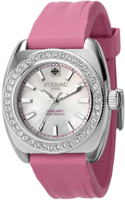 Zodiac &#39;Desert Falcon&#39; Ladies&#39; Rubber Strap Watch - Watches