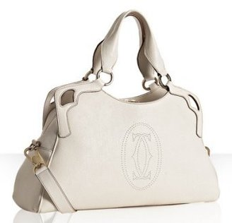 Cartier white leather &#39;Marcello&#39; medium bag - Cartier