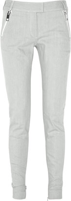 Julien Macdonald Mid-rise mesh-insert denim jeans - Denim Leggings
