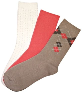 Sonoma life + style 3-pk. argyle crew socks - Socks