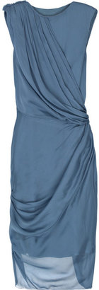 Alberta Ferretti Draped silk-chiffon dress - Cocktail Dress