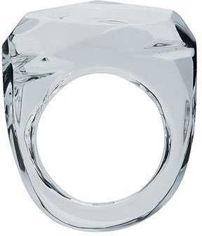 Baccarat Clear Rock Ring, Size 5 1/2 - Clearly Amazing 