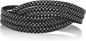 Alaa Cross-over studded suede belt - Beautifully Bold Belts