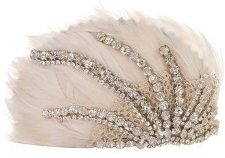KARIN ANDREASSON - Feather and crystal head piece - Hair Bow