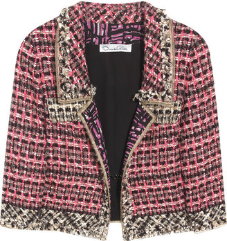 Oscar de la Renta Cropped tweed jacket - Dress Like Beyonce