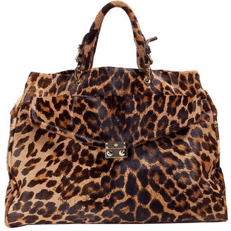 Mulberry Camel Leopard Neely Tote Haircalf - Handbags