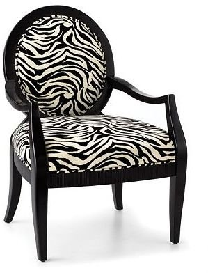The Look For Less: Zebra Print Accent Chair