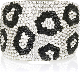 Kenneth Jay Lane Crystal-embellished cuff - Bracelets