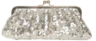 Silver Sequin Clutch - Sequined Purse