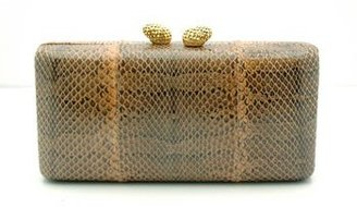 "KOTUR ""JB Renna"" Natural Snake Clutch - Slithering Snakeskin Box Clutches"