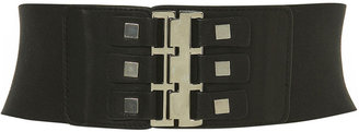 Square Stud Elastic Belt - Studded Belt