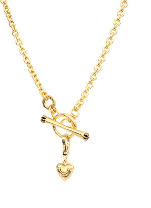 Juicy Couture Gold Detachable Heart Charm Necklace - Heart Pendant