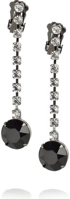 Kenneth Jay Lane Swarovski crystal drop earrings - Dress Like Carrie Underwood