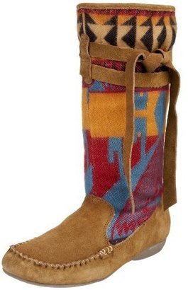 Mia Women&#39;s Yucatan Flannel Self Tie Boot - Moccasins