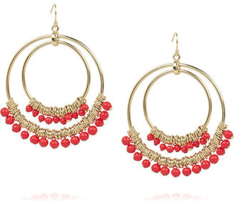 Kenneth Jay Lane Embellished double-hoop earrings - Dangle Earrings