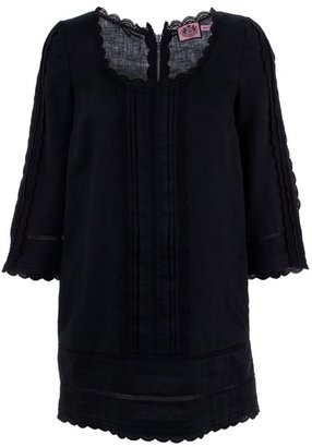 JUICY COUTURE - Broderie anglaise linen tunic dress - Sweater Dress and Thigh-High Boots