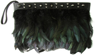 ASOS Conical Stud Feather Clutch Bag - Clutches