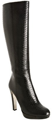 Christian Dior black snake printed 'Lady Dior II' platform boots - Fall Boot Trends