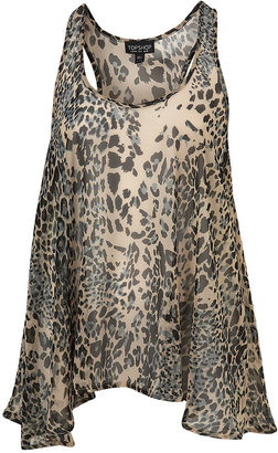 Animal Drop Hem Vest - Tip-Top Topshop