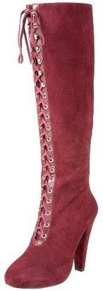 Madison Harding Women&#39;s Siouxsie Lace Up Knee Boot - Knee High Boots