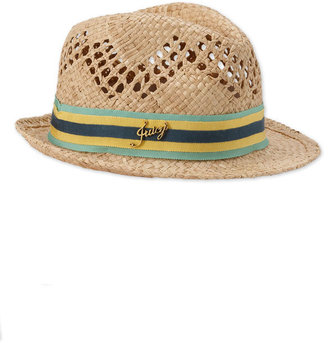 Juicy Couture Open Weave Straw Fedora - Hats