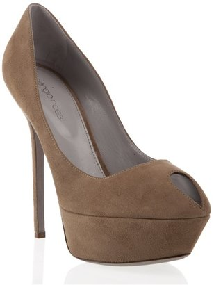 SERGIO ROSSI - Suede platform pumps - Heels