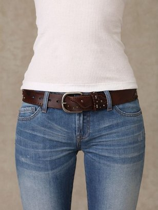 Patched &amp; Stitched Leather Belt - Belts