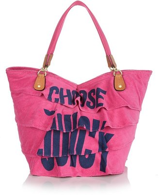 Juicy Couture Generation Y Ruffled Terry Beach Tote - Luxe Logo Totes