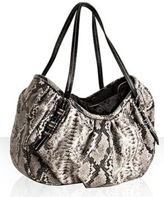 OrYany grey snake print poly &#39;Samantha&#39; large tote - Printed Leather Handbags