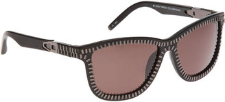 Alexander Wang Zipper Detail Sunglasses - Black - Sunglasses