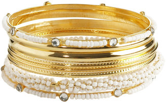 Metal Shell Bead Bangle Set - Dress Like Carly Shay
