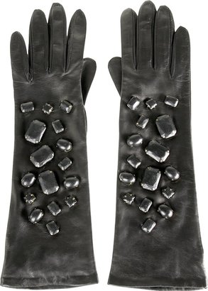 3.1 Phillip Lim Leather Opera Gloves - Full Sleeve Gloves