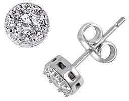 Endless diamond 14k white gold .96-ct. t.w. diamond stud earrings - Earring Studs