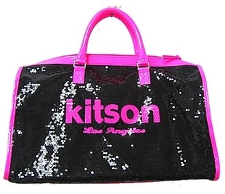 Kitson LA - Neon Pink Sequin Duffle Bag(Online Only) - Travel Bags 